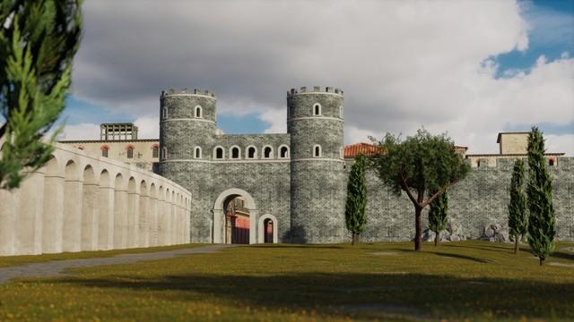 Roman Wall and Aqueduct