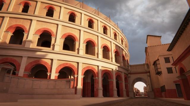 Outside the Roman Theatre