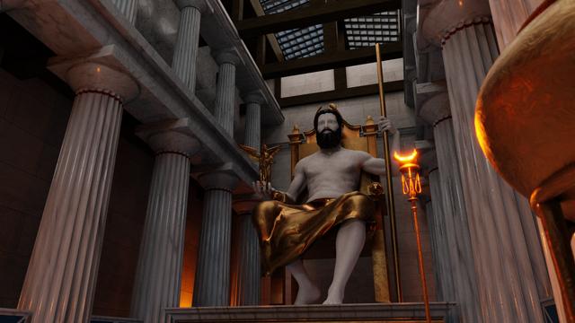 Inside the Temple of Zeus