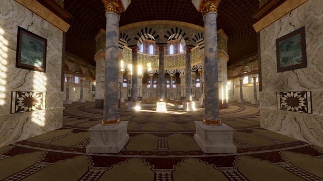 Dome of the Rock, Interior